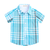 Retail Price Boys Plaid New Style Cotton Short Sleeved Shirt