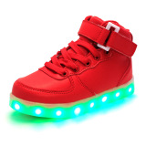 Children S Shoes Fashion Led Light G*rl S High Top Shoes Boys Shoes Red Price Comparison