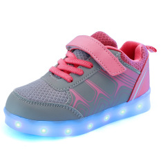 Buy Children S Shoes Led Light Loafers G*rl S Boys Shoes Pink Cheap China