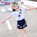 Review Korean Style New Style Children Suit Skirt 2 Piece Kids White China