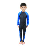 Buy Boy S Girls Long Sleeved Jellyfish Diving Suit Children S One Piece Swimsuit 6001 Child Paragraph Blue Cheap China