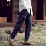 Buy Chinese Style Cotton Linen Autumn Men S Wear Slim Fit Harem Pants Linen Trousers China