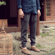Review Chinese Style Cotton Linen Autumn Men S Wear Slim Fit Harem Pants Linen Trousers On China