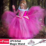 Discount Christmas Halloween Costumes Cosplay Party Dresses Up Children Kids Gown For Girls Long Sleeve Baby Girls Princess Maxi Dress Intl China
