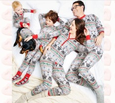 Christmas Parent-Child Package, Printing Home Service, Pajamas Two-Piece (children Models) - Intl By Huadong Store.