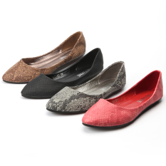List Price Classic 1217 8C Serpentine Spring Printed Pointed Flat Shoes Red Oem