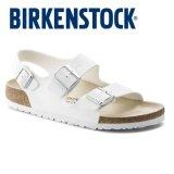 Sale Classic Birkenstock Womens Birkenstock Milano White Birko Flor® Narrow 034733 Intl Online South Korea