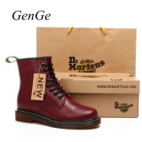 Classic British Fashion Martin Shoes Mens Leather Shoes Retro Martin Boots Selling Red Intl Coupon Code