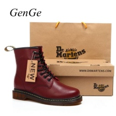 Sale Classic British Fashion Martin Shoes Mens Leather Shoes Retro Martin Boots Selling Red Intl China Cheap