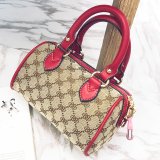 Classic Female Boston Bags Bag Red Red Free Shipping