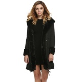 Store Clearance Price Sunweb Stylish Ladies Women Lady Hooded Winter Warm Thick Faux Fur Coat Parka Long Outerwear Overcoat Jacket Black Intl Not Specified On Hong Kong Sar China