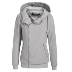 Price Comparisons Clearance Price Sunweb Women Winter Long Sleeve Zip Up Waterproof Hooded Quilted Bomber Jacket Outwear Grey Intl