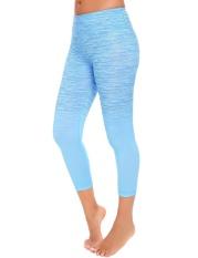 Brand New Clearance Price Sunwonder Women Casual Gradient Color Slim Yoga Pants Legging For Sport Fitness Blue Intl
