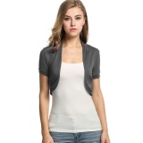 Sale Clearance Sale Knitted Pleated Sides Cardigan Womens Jacket Crop Top Bolero Shrug Grey Intl Not Specified Online