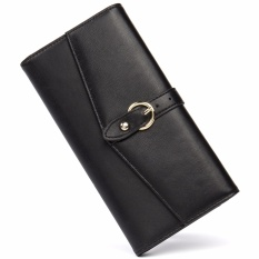 Discount Cluci Women Real Cow Leather Zipper Wallet 2017 Fashion Clutch Black Intl China