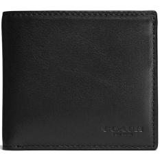 Sales Price Coach Coin Wallet In Sport Calf Leather Men Wallet Black F75003