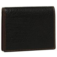 Coach F11989 Men's Slim Coin Full Leather Wallet (Black Exterior Brown Interior)