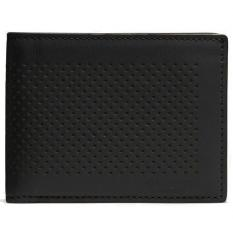 Sale Coach Men Slim Billfold Id Wallet In Perforated Leather Men Wallet Black F75227 Singapore