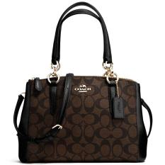 Who Sells Coach Mini Christie Carryall In Signature Crossbody Shoulder Bag Handbag Black Brown F58290 Cheap