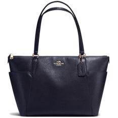 Price Comparisons Coach Pebble Leather Ava Tote Handbag Midnight Navy F37216