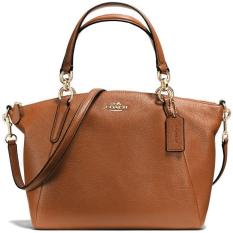 Coach Small Kelsey Satchel In Pebble Leather Handbag Gold   Saddle Brown    F36675 64936a1b8b3c9