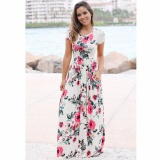 Wholesale Cocoepps 2017 Women Maxi Vintage Elegant Dresses Summer New Style O Neck Floral Printed Flower Party Long Dress Intl