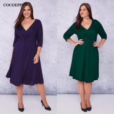 746bcec209ccc COCOEPPS Winter Autumn Plus size Elegant Dresses 2017 Big Size 5XL 6XL Sexy  Deep V-