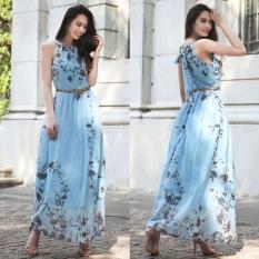 Buy Cocoepps Women Vintage Plus Size Flower Printed Long Dresses 2017 Summer Elegant Sleeveless Maxi Dress Off Shoulder Vestidos Intl Cheap On China