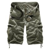 Deals For Cocotina Men S Casual Military Cargo Overall Shorts Sport Pants Greyish Green Export