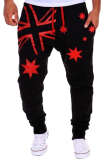 Price Cocotina Men S Casual Sports Harem Sweat Pants National Flag Stars Print Hip Pop Dance Baggy Jogger Slacks Black Red China