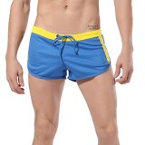 Cheaper Cocotina S*xy Mens Sport Shorts Running Gym Racing Athletic Short Casual Pants Blue Export