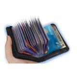 Coupon Cocotina Women Mens Black Leather Zipper Lock Wallet Card Holder Unisex Slim Bag Pouch Intl