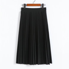 College Wind Hand Pressure Pleated Spring And Summer Pleated Skirt Black Compare Prices
