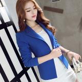 Price Comparisons Calan Diaua Women S Korean Style Slim Long Sleeved Suit Coat Navy Blue Navy Blue