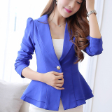 Best Buy Caidaifei Spring And Summer New Style Long Sleeved Female Coat Sapphire Blue