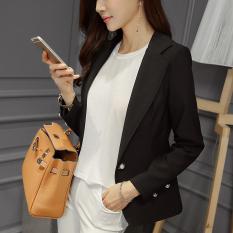 Best Offer Color Princess Di Commuting Plain Slim Fit Long Sleeve Women S Clothing Black Black