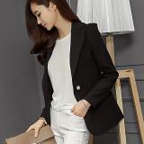 Caidaifei Korean Style Solid Color Spring And Summer New Style Women S Jacket Black For Sale Online