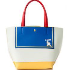 70dc28d62 Colors by Jennifer Sky X Disney Donald Duck faux leather medium tote bag (  Sailor )