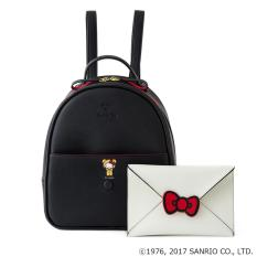 Low Cost Colors By Jennifer Sky X Hello Kitty 2 Pc Set Faux Leather Mini Backpack White Envelope Pouch Black