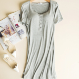 Price Every Day Special With Plus Sized Outer Wear Long Section Short Sleeved Chest Pad Gray Oem Online