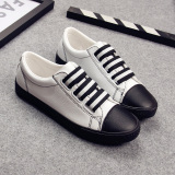 Compare Price Comfortable Black Slip On Pull On Casual Ladies Shoes Gaiters White Black White Black On China