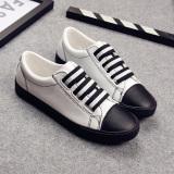 Comfortable Black Slip On Pull On Casual Ladies Shoes Gaiters White Black White Black Promo Code