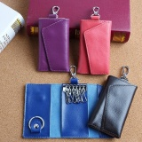 Retail Compact Leather Zip Key Case Holder Wallet Pouch Key Chain Bag Intl
