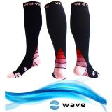 Compression Socks 1 Pair For Women Men By Wave Best For Running Athletic Sports Crossfit Flight Travel Maternity Pregnancy Nursing Review