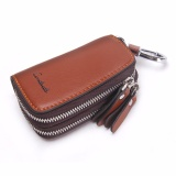 Contact S Key Wallet Men Genuine Leather Double Zippers Keys Case Bag Car Key Holder Brown Intl Coupon Code