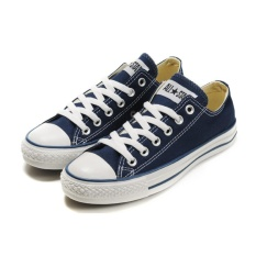Convers Sneaker Unisex Flat Shoes Fashion Canvas Shoes Navy Blue For Sale