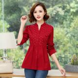 Low Cost Han Nv Zhang Xiu 3 4 Women S Tops New Shirts Red Red