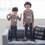Price Comparisons Of Cotton Baby Korean Style Spring New Style Boy S Pajamas For Children Tracksuit