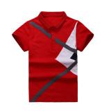 Cotton Boys Short Children T Shirt Polo Shirt Red 4703 Red 4703 Cheap
