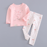 Cotton Girls Autumn Baby Pajamas Children S Heattech Squirrel Star For Sale